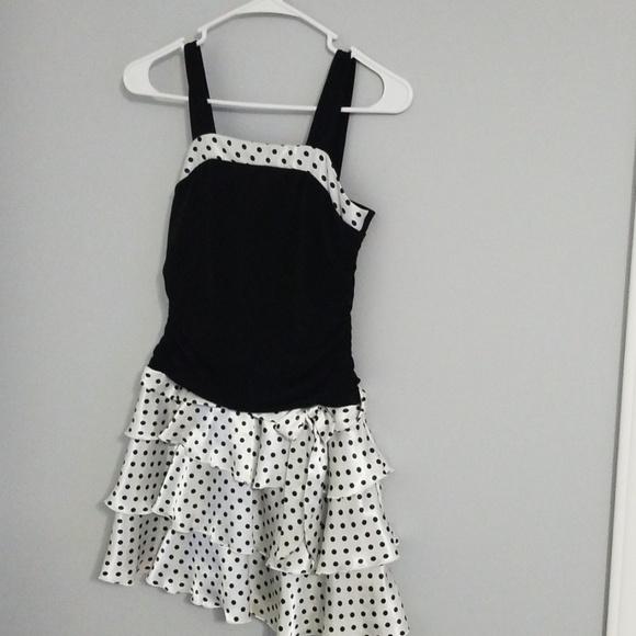 Byer California Dresses & Skirts - Short black and white polka-dot dress